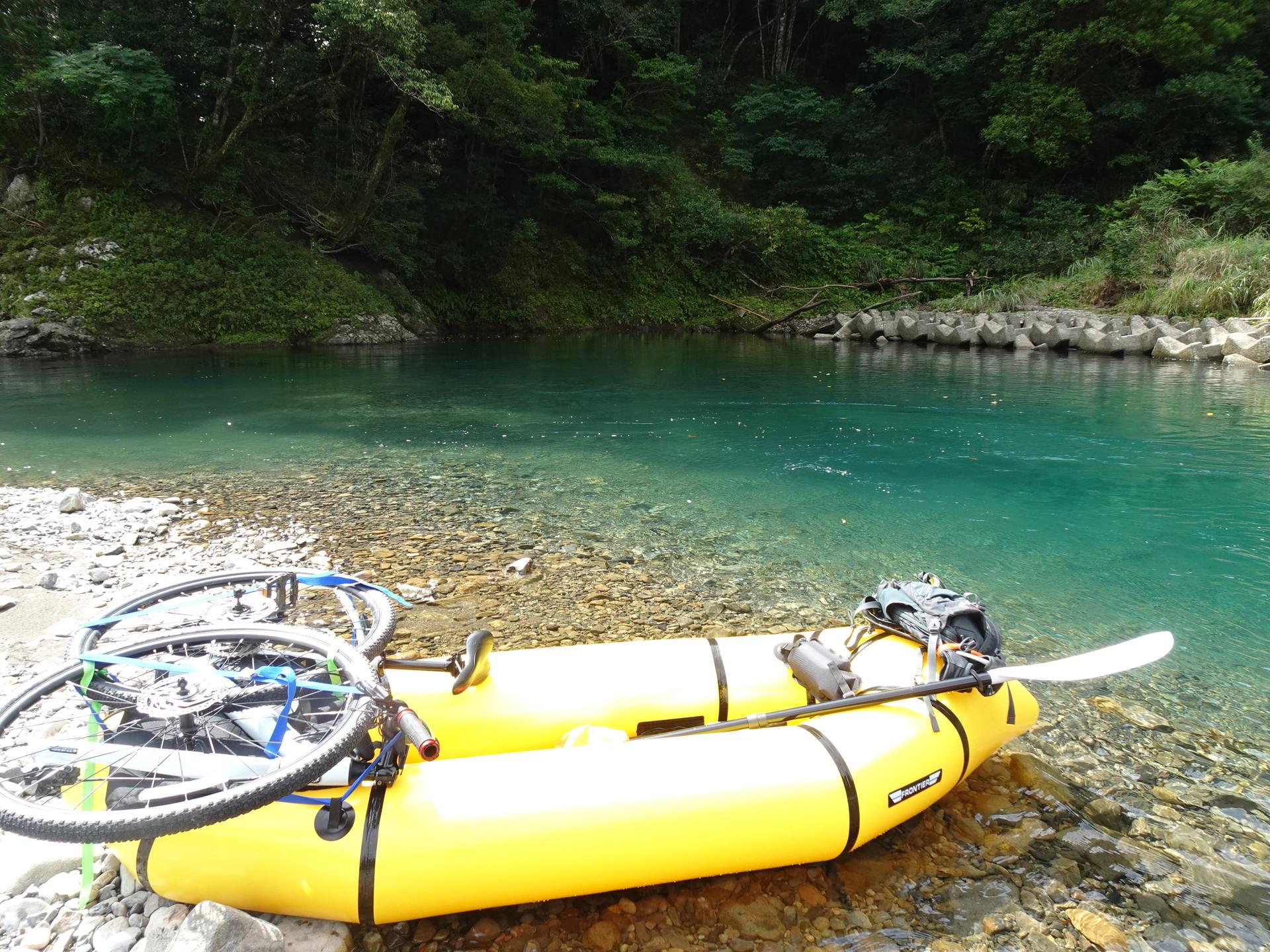 新装備と川の状態チェックで四万十川に